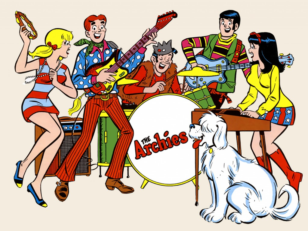 Cartoon characters  - The Archies top the UK charts with 'Sugar Sugar'