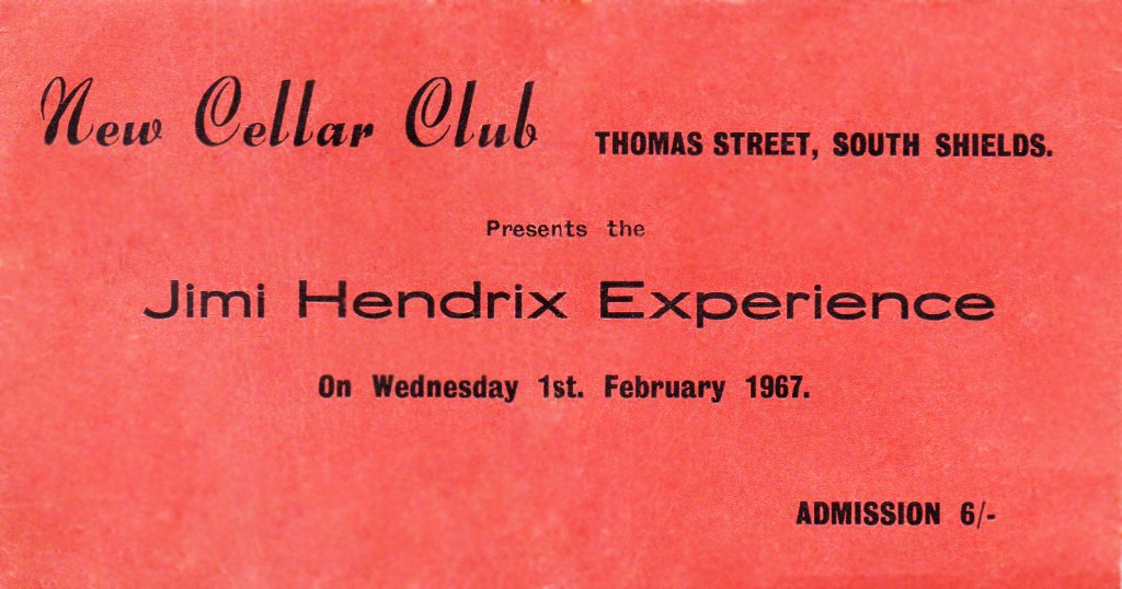 Ticket to see Hendrix - a sought after item in early '67