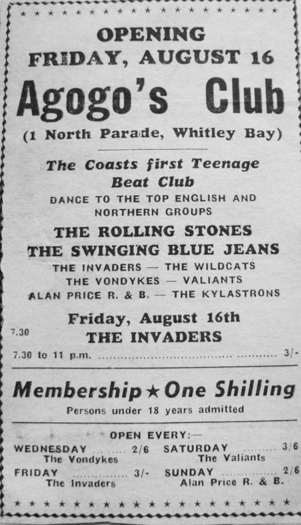 Club a'GoGo flyer from 1963