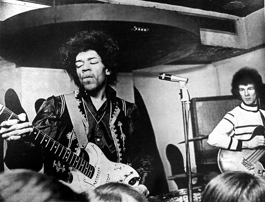 Jimi Hendrix at the Cellar on 1st February 1967