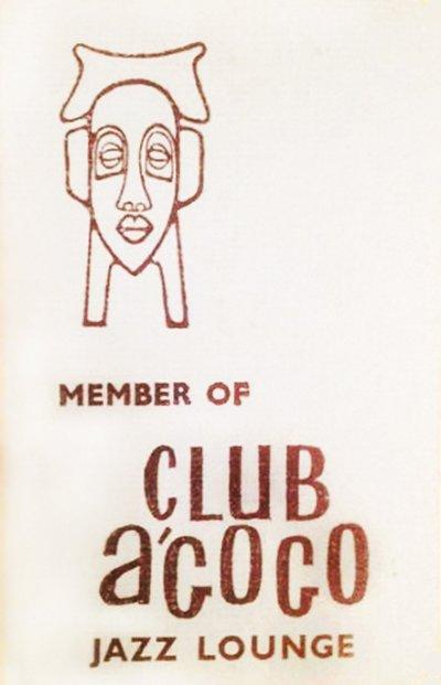 Membership card for the Jazz Lounge circa 1967
