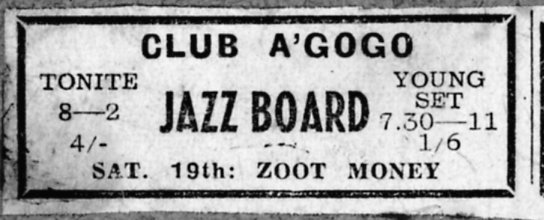 Newspaper ad for the Gogo