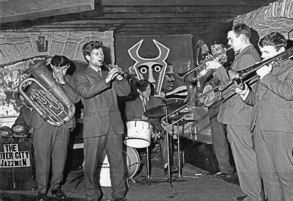 The River City Jazzmen performing at the Cellar Jazz Club in the early sixties
