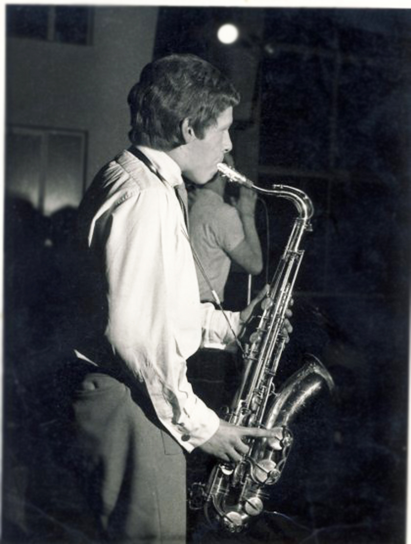 Roger on stage with the Jazzboard