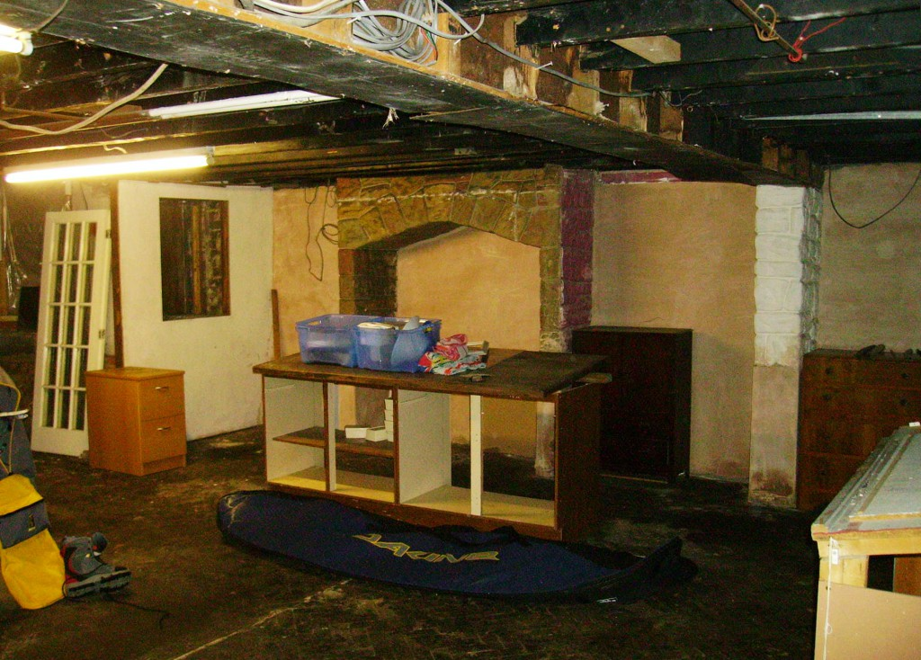 The basement where the bands played