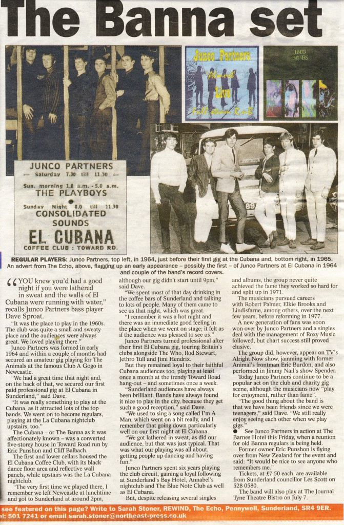 2006 Sunderland Echo article about the el Cubana