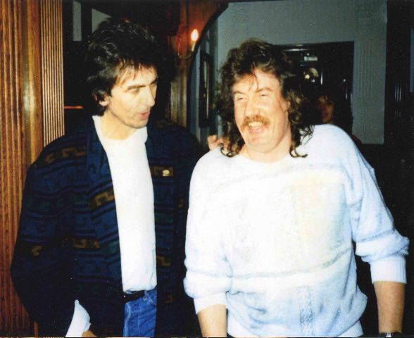Colin Hart with ex-Beatle, George Harrison