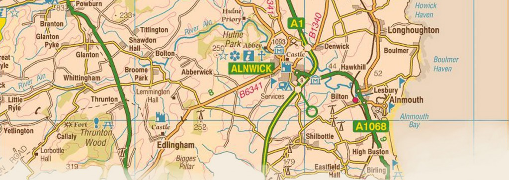 23 alnwick map
