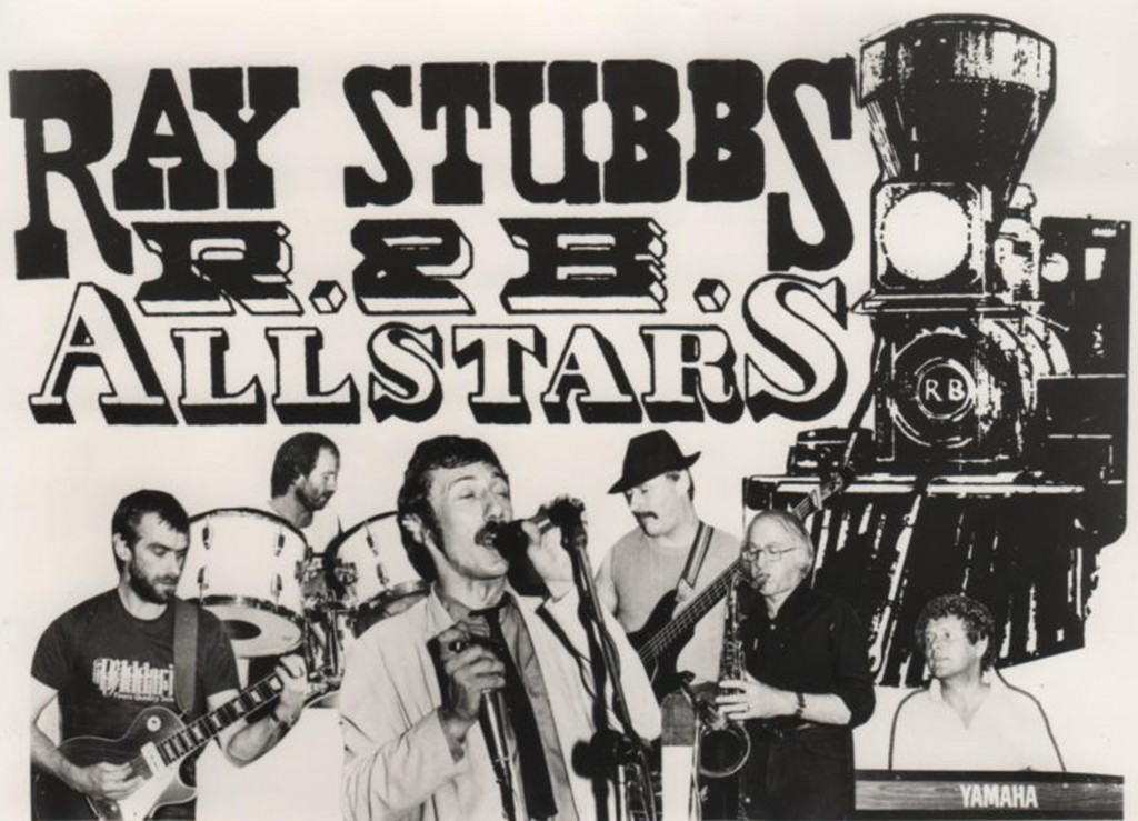 Publicity flier for the Ray Stubbs Allstars with Bernie on tenor sax