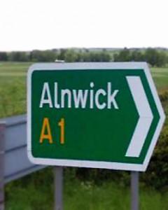 Alnwick A1 Map