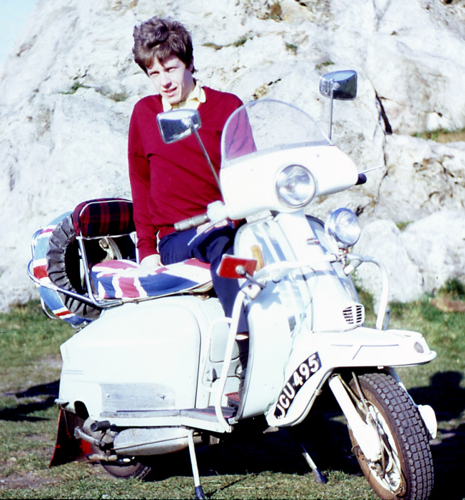 Me on my Lambretta in 1966