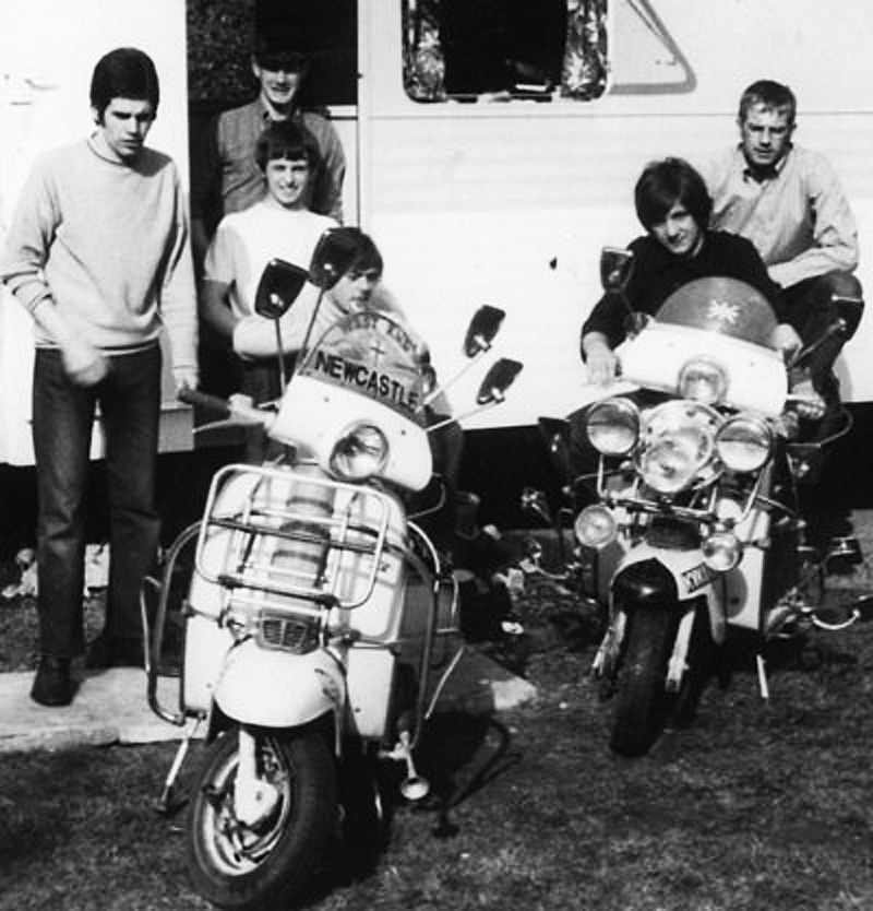 Some of the Newcastle scooter crowd in 1968