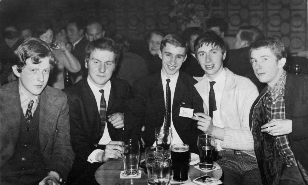 Half Past Thirteen: Charlie Foskett (left), Ken Brown (second right) and Fred Smith (right)