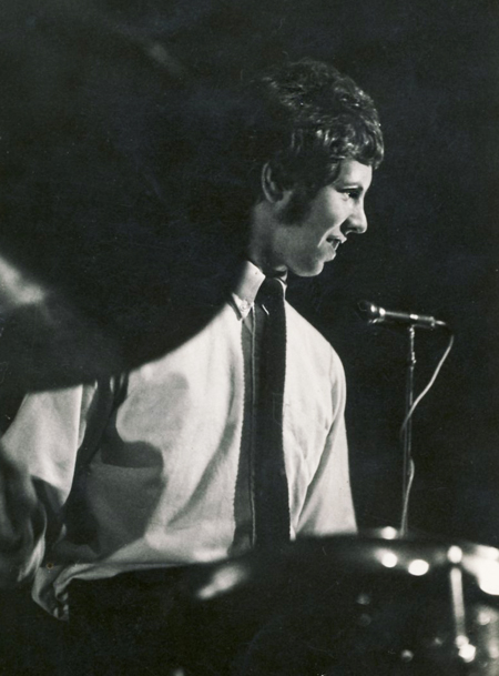 Bruce Lowes on drums