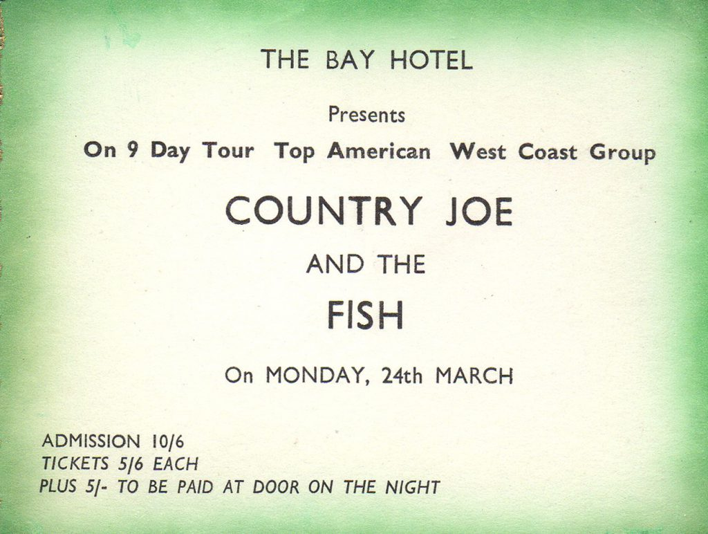 Bay Country Joe ticket