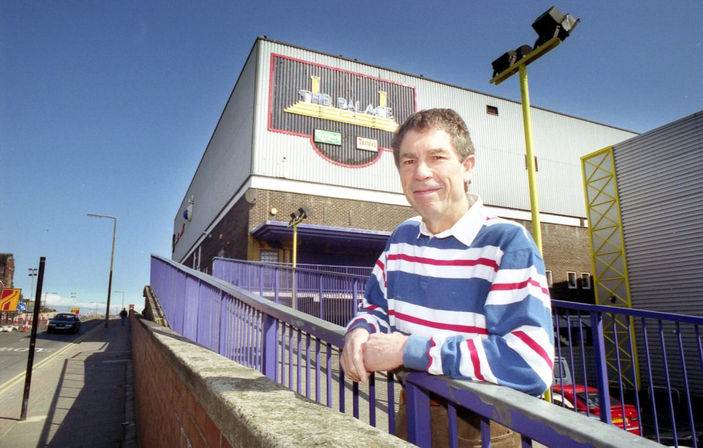 Geoff Docherty photographed at the Locarno in more recent times. (The building has since been demolished)