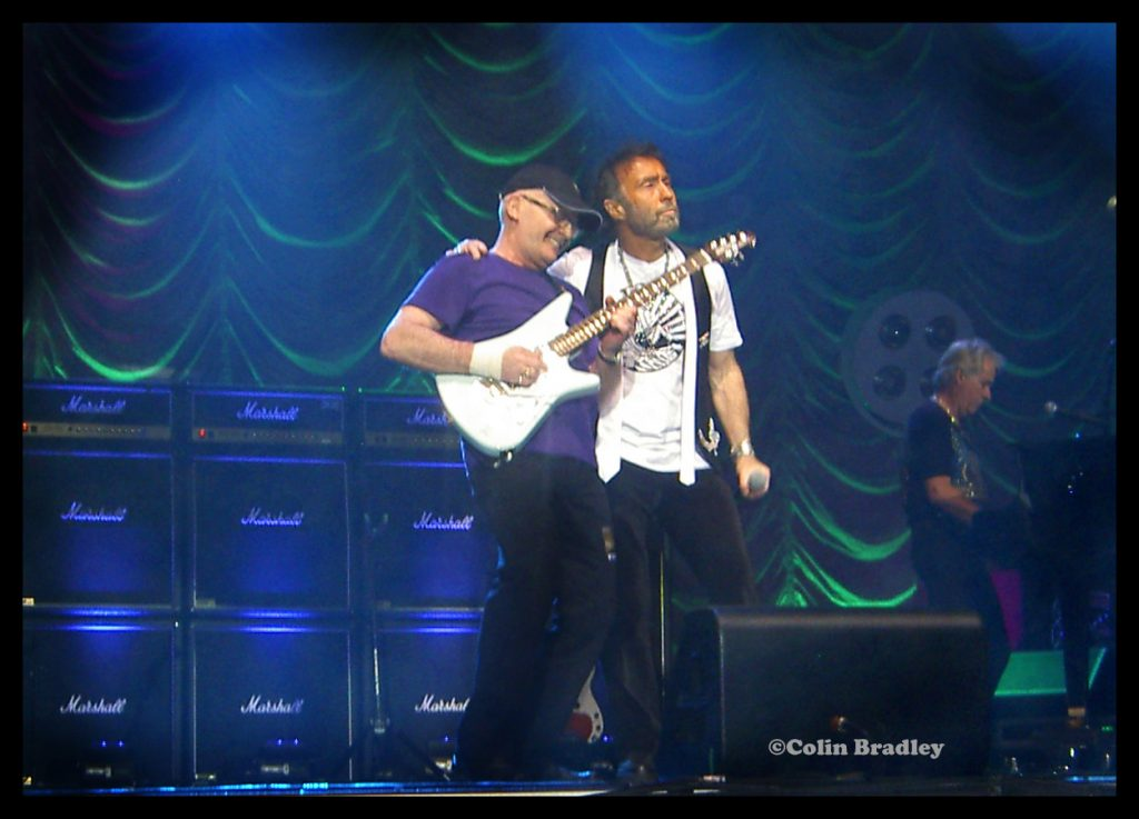 Paul Rodgers performing a few years back with his old Roadrunner's band mate, Colin Bradley at the Metro Arena, Newcastle