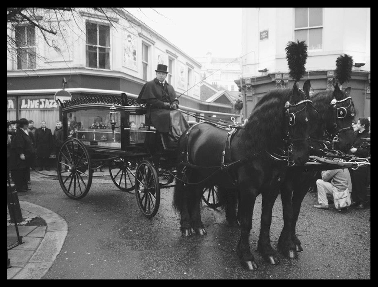 Keith's funeral cortege in 2012