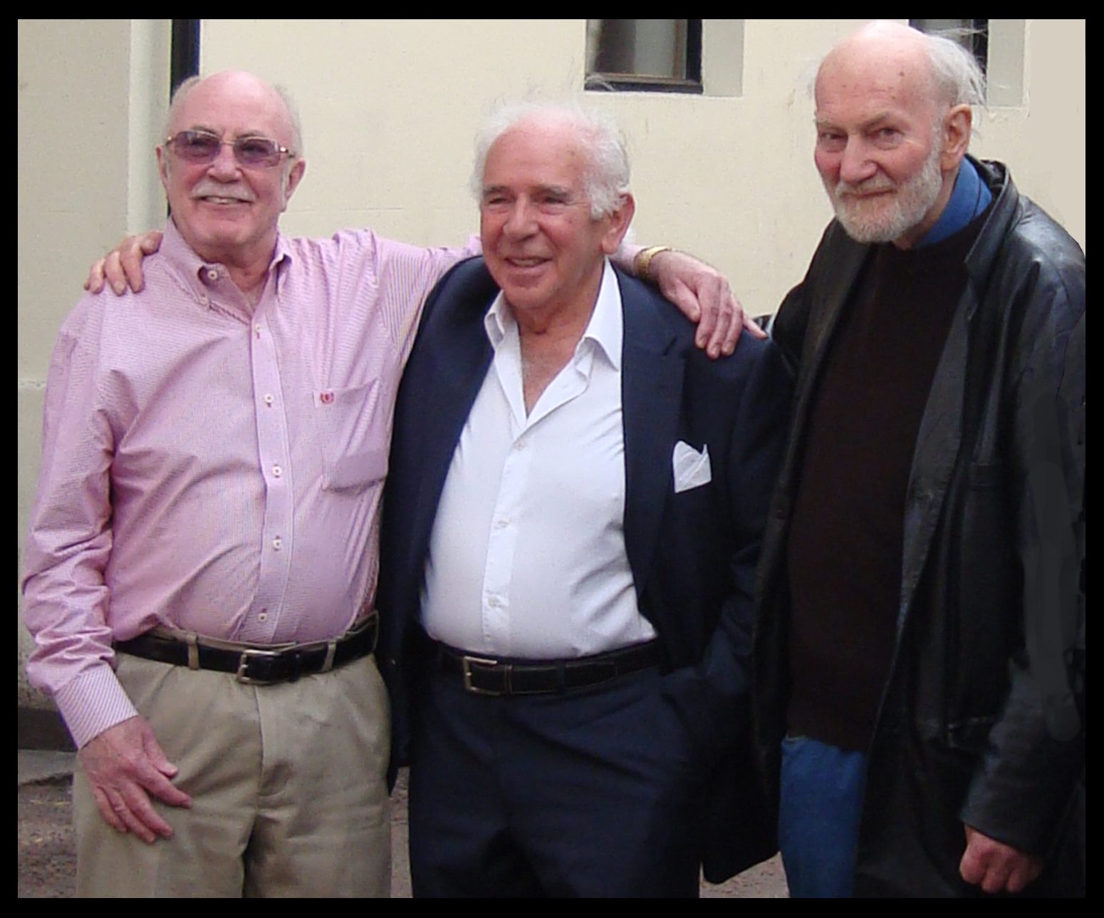Wally Nash (left) and Keith (right) in 2011. The gentleman in the centre is Marcus Levey who owned the Dolce Vita up to 1965.