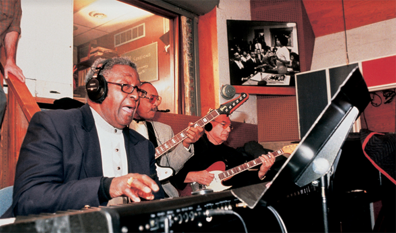 Motown's Studio A with musicians